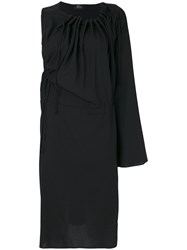 Lost And Found Ria Dunn One Shoulder Knit Dress Women Spandex Elastane Viscose Wool M Black