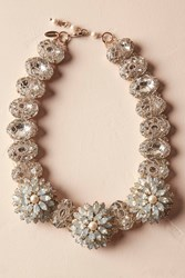 Anthropologie Opal Blossom Necklace Gold