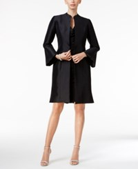 B Michael Taffeta Bell Sleeve Topper Evening Jacket Black