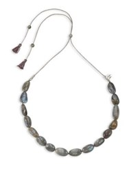 Chan Luu Labradorite And Sterling Silver Necklace Green Multi