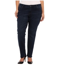 Kut From The Kloth Plus Size Stevie Straight Leg In Progressive Progressive Women's Jeans Black