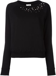 Saint Laurent Star Studded Sweatshirt Black