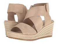 Eileen Fisher Willow 3 Light Gold Metallic Suede Wedge Shoes