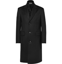 Paul Smith Wool Overcoat With Cashmere Scarf Black