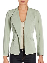Lafayette 148 New York Coraline Open Front Jacket Frosted Mint