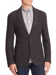 Billy Reid Single Breasted Wool Blazer Dark Grey