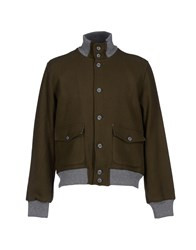 Cooperativa Pescatori Posillipo Coats And Jackets Jackets Men Military Green