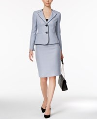 Le Suit Tweed Skirt Blue Bell Multi