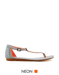Toms Playa Neon Denim Woven Flat Sandals
