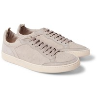 Officine Creative Kareem Suede And Leather Sneakers Gray