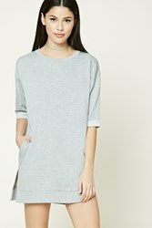 Forever 21 Vented Fleece Tunic Heather Grey