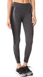 Koral Curve Crop Leggings Dark Heather Grey Black