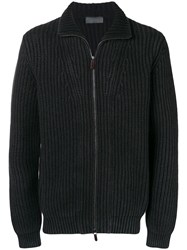 Iris Von Arnim Chunky Zipped Jumper Black