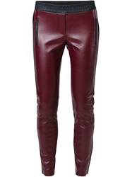 8Pm Leather Effect Leggings Red