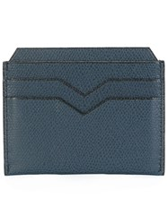 Valextra Classic Cardholder Calf Leather Blue
