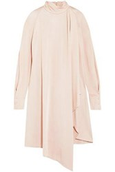 Carven Pussy Bow Draped Stretch Jersey Dress Pastel Pink
