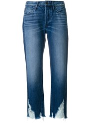 3X1 Higher Ground Boyfriend Jeans Women Cotton 30 Blue