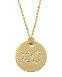 Roberto Coin Diamond Xo Medallion Necklace Gold