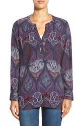 Sanctuary 'Garcon' Print Split Neck Tunic Folklore