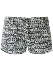 Andrea Bogosian Tweed Shorts Women Cotton Acrylic Polyester Wool P Grey