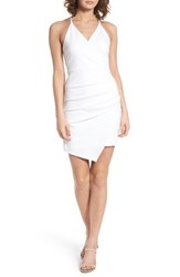 Soprano Asymmetrical Body Con Dress Ivory
