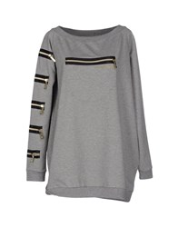 Blugirl Folies Topwear Sweatshirts Women Grey