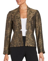 Nipon Boutique Floral Jacquard Blazer Black Gold