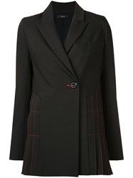 Ellery Pleated Detail Blazer Black