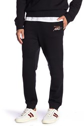 Bally Topstitched Joggers Black