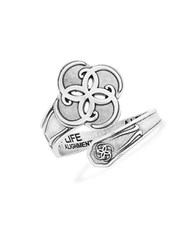 Alex And Ani Breath Of Life Spoon Ring Silver