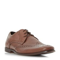 Howick Pirate Round Toe Brogue Shoe Tan