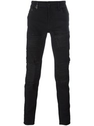 Marcelo Burlon County Of Milan Distressed Slim Jeans Black