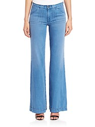 Ag Jeans Carly Pintuck Wide Leg Blue