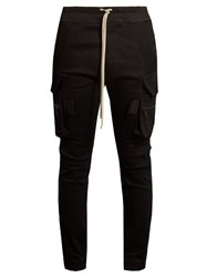 Rick Owens Patch Pocket Slim Fit Cargo Trousers Black