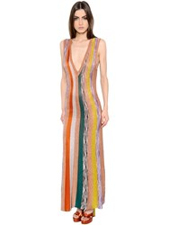 Missoni Striped Lame Knit Dress