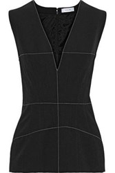 Thierry Mugler Woman Pintucked Twill Top Black