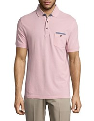 Bugatti Pocket Square Accented Polo Pink