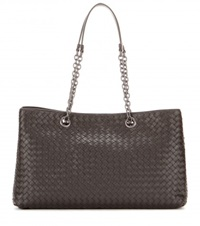 Bottega Veneta Intrecciato Leather Tote Brown