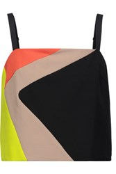 Milly Cropped Color Block Cady Top Multi