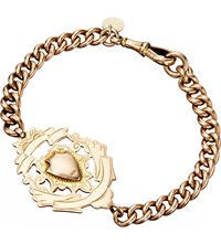 Annina Vogel 9Ct Rose Gold Antique Medallion Shield Bracelet