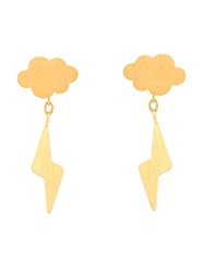 Marie Helene De Taillac 'Thunderstorm' Earrings Metallic