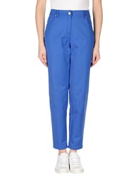 Clips Trousers Casual Trousers Women Bright Blue
