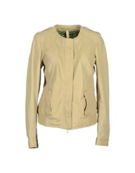 Le Sentier Leather Outerwear Sand