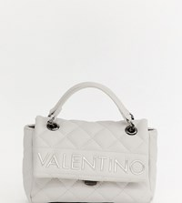 Valentino By Mario Valentino Grey Quilted Cross Body Bag