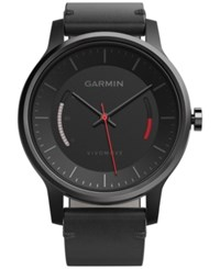 Garmin Women's Vivomove Classic Black Leather Strap Activity Tracking Smart Watch 42Mm 010 01597 12