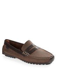 Cole Haan Grant Canoe Leather Moccasins Partridge Brown