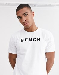 Bench Oversized T Shirt With Vintage Font In White