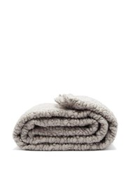 L'objet X Haas Brothers Vermiculation Mohair Blend Throw Grey