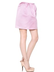 Esme Vie Double Face Silk Gabardine Mini Skirt