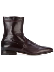Carvil Dylan Boots Men Leather Kid Leather 8 Red
